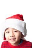 Sombrero de la Navidad del muchacho que lleva vietnamita lindo Imágenes de archivo libres de regalías