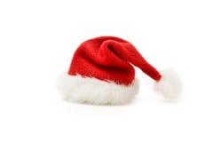 Sombrero de la Navidad en blanco Foto de archivo