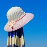 Sombrero de la playa Foto de archivo libre de regalías