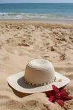 Sombrero de la playa Imagenes de archivo