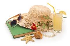 Sombrero de la playa de las mujeres Imagen de archivo libre de regalías