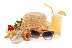 Sombrero de la playa de las mujeres Imagen de archivo