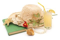 Sombrero de la playa del ` s de las mujeres Fotografía de archivo