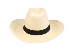 Sombrero de la playa en blanco. Imágenes de archivo libres de regalías
