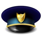 Sombrero de la policía stock de ilustración