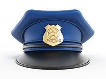 Sombrero de la policía Imagenes de archivo