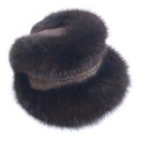 Sombrero de la trenza del zorro natural de la piel Fotografía de archivo