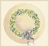 Sombrero de la vendimia con la zarzamora y las frambuesas. Salude Fotos de archivo libres de regalías