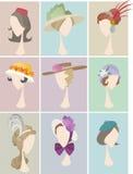 Sombrero de las mujeres del perfil de Avatar Imagen de archivo libre de regalías