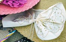 Sombrero de las señoras del verano Imagen de archivo