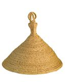 Sombrero de Lesotho en backdrop2 blanco Imagen de archivo