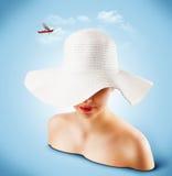 Sombrero de mimbre Imagen de archivo libre de regalías
