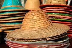 Sombrero de mimbre fotografía de archivo libre de regalías