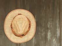 Sombrero de paja Imágenes de archivo libres de regalías