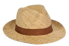 Sombrero de paja aislado fotografía de archivo libre de regalías