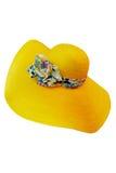 Sombrero de paja amarillo Fotografía de archivo