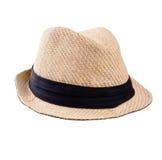 Sombrero de paja de Panamá del verano Imágenes de archivo libres de regalías