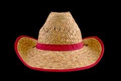 Sombrero de paja del vaquero imagenes de archivo