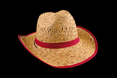 Sombrero de paja del vaquero fotos de archivo