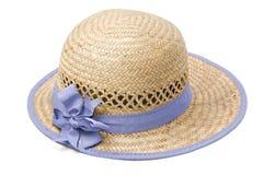 Sombrero de paja del verano Foto de archivo