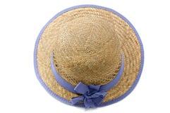 Sombrero de paja del verano Imágenes de archivo libres de regalías