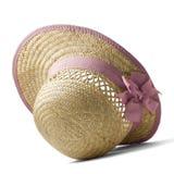 Sombrero de paja del verano Fotos de archivo libres de regalías