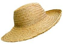 Sombrero de paja hecho a mano fotos de archivo