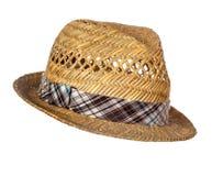 Sombrero de paja masculino aislado imágenes de archivo libres de regalías