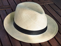 Sombrero de Panamá viejo Imágenes de archivo libres de regalías