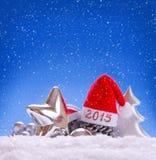 Sombrero 2015 de Papá Noel Fotografía de archivo libre de regalías