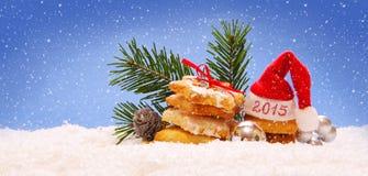 Sombrero 2015 de Papá Noel Imagenes de archivo