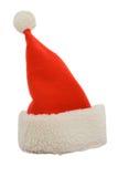Sombrero de Papá Noel aislado en blanco Fotos de archivo