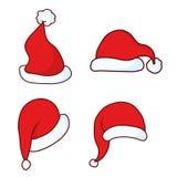 Sombrero de Papá Noel de la Navidad Imagenes de archivo