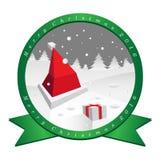 Sombrero de Papá Noel en día de la Navidad Imagen de archivo libre de regalías