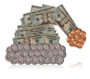 Sombrero de Santa del dinero Imágenes de archivo libres de regalías