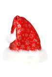 Sombrero de Santa (en blanco) Fotos de archivo libres de regalías