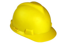 Sombrero de seguridad de construcción Imagenes de archivo