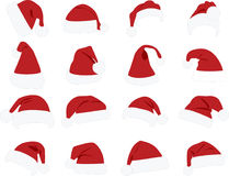 Sombrero de Snata Claus Imagenes de archivo