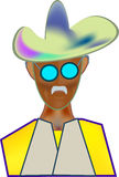 Sombrero de vaquero de la imagen del color del icono fotos de archivo