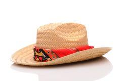 Sombrero de vaquero de la paja Foto de archivo