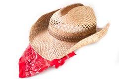 Sombrero de vaquero y bandana Imagen de archivo libre de regalías