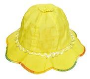 Sombrero del amarillo del verano de los niños Fotografía de archivo