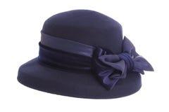 Sombrero del azul de las señoras Foto de archivo libre de regalías