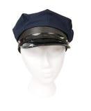 Sombrero del chófer aislado en blanco Fotografía de archivo libre de regalías