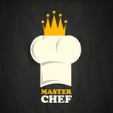 Sombrero del cocinero con la corona Imagen de archivo