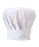 Sombrero del cocinero en blanco Fotos de archivo libres de regalías