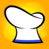 Sombrero del cocinero en fondo amarillo stock de ilustración