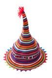 Sombrero del color de telas de las tiras Imagenes de archivo