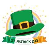 Sombrero del día del St Patrick stock de ilustración