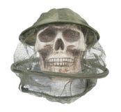Sombrero del encargado de la abeja en el cráneo Foto de archivo libre de regalías